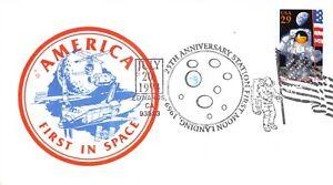 25th ANNIVERSARY APOLLO 11 COLORFUL CACHET 7/20/94 FD USE EDWARDS, CA. SC# 2841a