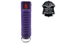 Police Magnum pepper spray .50oz purple molded keychain self defense security