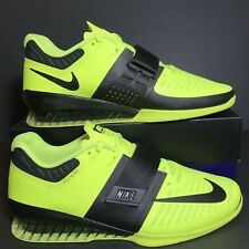 b1d1acd6663cc Size 12.5 Mens Nike Romaleos 3 Weightlifting Shoes Volt Black New 852933-700  🔥