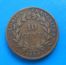 French Colonies Guadeloupe 10 centimes Louis-Philippe 1839 A km 13 Lec.314