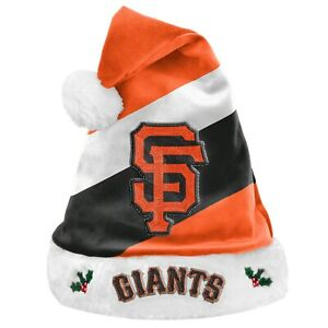 San Francisco Giants Team Big Logo Holiday Plush Santa Hat NEW! Christmas SH19