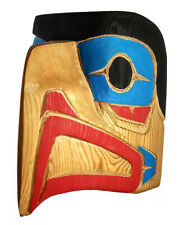 BC Native Art Northwest Coast Salish Indigenous First Nations EAGLE Mask Carving