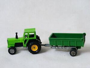 Majorette tracteur et sa remorque 1/65