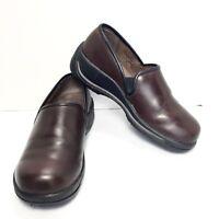 Women's DANSKO Brown Leather Clogs Size EU 39 US 8.5