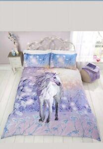 Rapport Magical Unicorn  Reversible Duvet Set  Double  Cheapest On Ebay