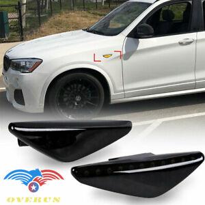 For 07-14 BMW X5 X3 X6 Amber 27 SMD LED Smoke Side Marker Turn Signal Lights