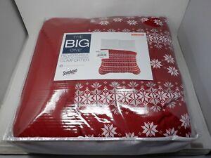 The Big One Reversible Down-Alternative Comforter Full/Queen Red Fairisle HC5780