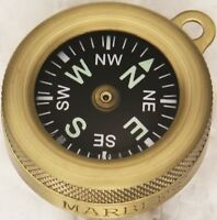 "Marbles Pocket Compass Brass Construction 1"" Diameter MR1147"