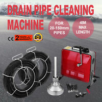 20-150mm Ø Pipe Drain Cleaner Machine Cleaning Equipment 45m Max Length Sewer
