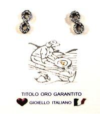 Orecchini Bimba Ragazza in Oro bianco 18kt 750 /°°°   Infinito  Made in Italy