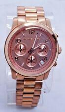 "Michael Kors MK5128 Women's Rose Gold Tone Analog Watch Size 7 3/4"" Used"