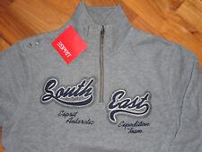 Sweatshirt kuschelig warm innen Esprit kids grau Neu mit Etikett 128 / 134