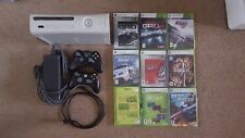 XBox 360 Console 120GB with 2 wireless Controllers and 9 dvd Games