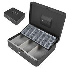 flach abschließbar Geldkoffer Transport Zählbrett Stahl Geldkassette 30 cm groß