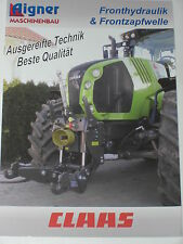 AIGNER CLAAS Traktoren Fronthydraulik & Frontzapfwelle Prospekt ( 1661 )