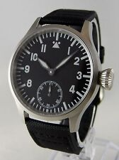 Montre pilote SAPHIR FLIEGER BLUE LUME Mécanique Type Unitas 6498 watch b-uhr
