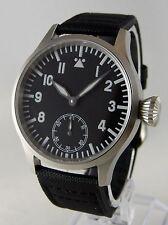 Montre pilote SAPHIR FLIEGER BLUE LUME Mécanique Type Unitas 6498 watch b-uhr