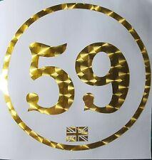 2x Vintage style, Custom Race Number Door Rally Vinyl Sticker Decal,GOLD!