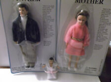 """Miniature Doll House 1:12"""" Poseable Doll Family of 3"""
