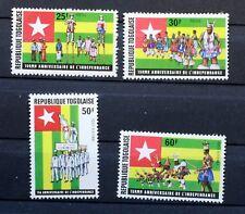 1975 Serie Completo francobolli TOGO indipendenza NUOVO MNH 88M904