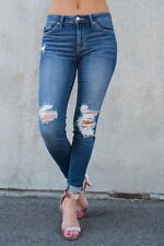 NEW! KANCAN MEDIUM DISTRESSED STRETCH LEGGING SKINNY JEANS 5 26 BUCKLE KAN CAN