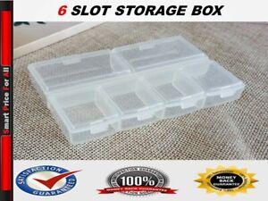 Storage Box Hard Plastic Separate Compartment Slot Plastic Craft Organizer Small