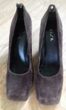 Ladies size 7 (40) Brown Suede Shoes (skid free non static).....Free Postage!!