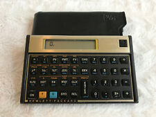 Vintage HP 12C Financial Calculator + Sleeve/Pouch/Case & Batteries Works Great