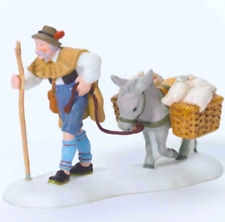 Dept 56 Alpine Village - Home From The Mill 56304 Donkey Hauls Grain Home - New