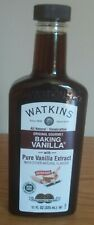 JR Watkins Double Strength Baking Vanilla 11 oz with Pure Vanilla Extract