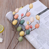 Easter Egg Tree Decor Creative Branch With Painting Eggs Plastic Spring Gift EW
