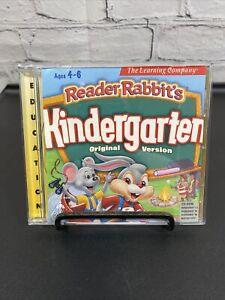 Reader Rabbit Kindergarten -- Origional Edition (PC, 1998)