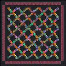 Quilt Kit/ Batik Chained Rectangles /Pre-cut Fabrics Ready To Sew/QN/EXPED ***