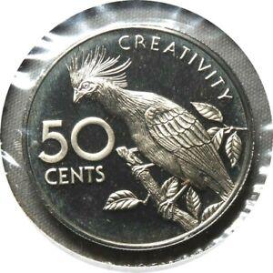 elf Guyana 50 Cents 1976 Proof Hoatzin  Bird