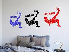 Footballer & Name - Personalised Wall Art - Vinyl Decal Sticker - 14 Colours