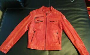 MUSTANG Damen Leder Jacke Rot,Gr.M,wie Neu