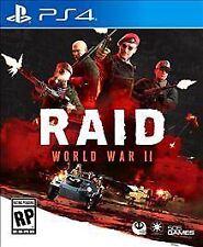 Raid: World War II (Sony PlayStation 4, 2017) NEW SEALED FAST SHIPPING 505 GAMES