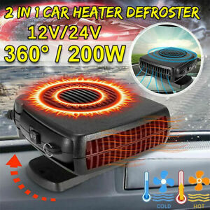 Car Windshield Heating Cooling Fan 12V 200W Quick Heater Defroster Demister