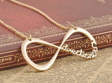 One Direction Gold Necklace Infinity & Symbol with Letters Alloy Pendant Chain