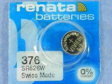 Renata  376  SR626W  Watch Electronic Batteries   Button Cell ,1 Pc