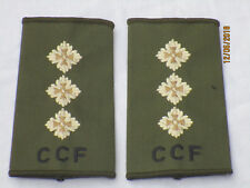 lineas de rango : Capitán, CCF , oliva, combinado CADETE Force