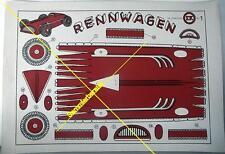 Ausschneidebogen Papier-Modell Rennwagen um 1935 (21315)