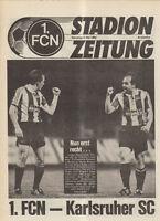 BL 91/92 1. FC Nürnberg - Karlsruher SC (Stadionzeitung)