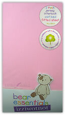 Izziwotnot Bear Essentials Cot Bed Fitted Sheets X 2 in Pink