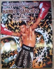 Prince Hamed vs Sanchez Official On-Site Boxing Program August 19, 2000 WBO Chmp