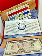 2012 S SILVER EAGLE PROOF & $5 BILL WITH THIS 2012 MAKING AMERICAN HISTORY SET