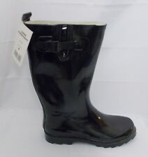 Misty Mountain Rain Boots Black Rubber Technical Performance size 8