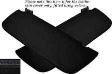 BLACK STITCH 2X SUN VISORS LEATHER SKIN COVERS FITS MERCEDES SPRINTER 2014+