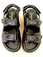 Chanel Grandad Sandals - Black Leather - Size 38 (UK:5)
