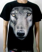 """T-Shirt """" Wolf """" Kopf - Großes Motiv  S M L XL XXL  NEU"""